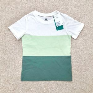 ⭐️3 FOR 20⭐️ H&M colourblock tee size 2-4T
